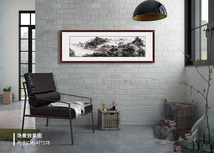 想要装饰韵味家居?徐坤连手绘山水画,雅致家居好风景