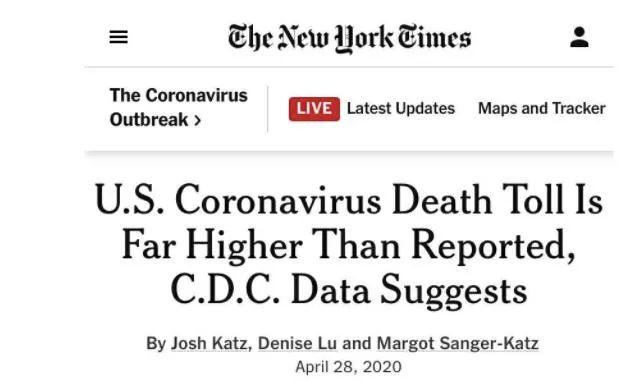 美媒质疑美国疫情真实数据已破天花板
