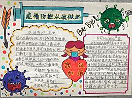 小学生防疫情手抄报绘画图片