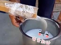 印度奶商用水管卖牛奶
