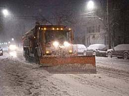 纽约遭遇罕见暴风雪袭击