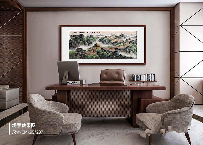 办公室装饰画如何选?一幅大气长城国画,尽显威仪