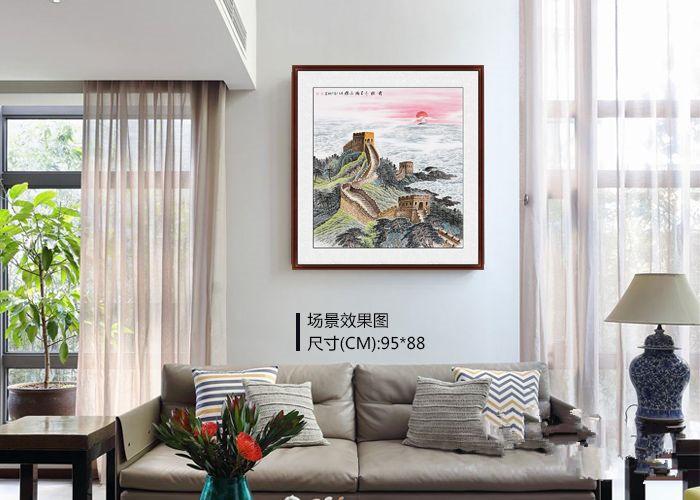 现代风家中挂画怎么选?挂一幅精致斗方画,简约大方