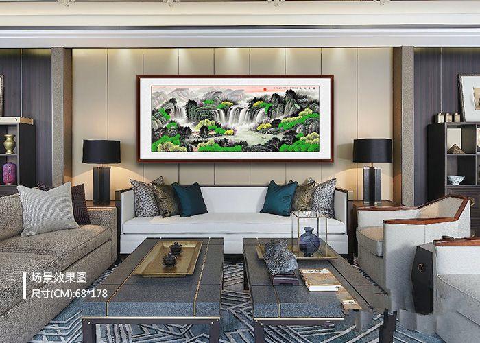 沙发背景墙挂画推荐:家居软装少不了一幅山水装饰画
