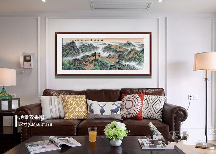 家中挂画选什么更实用?挂一幅山水画效果是一般画作比不了的