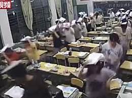 云南地震学生头顶书本1分钟撤离