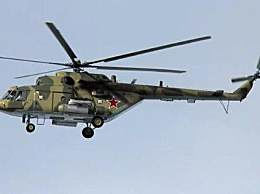 俄军直升机坠毁