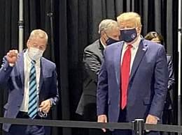 特朗普终于戴口罩