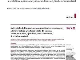 首个新冠疫苗人体临床数据