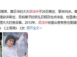 梁洁华去世享年59岁