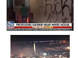 美国白宫附近多地起火