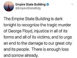 纽约帝国大厦熄灯
