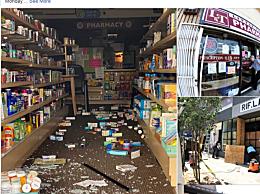 美国亚裔店铺遭洗劫
