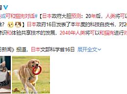 日本预测2040年人类可和猫狗对话 20年后基本都会实现