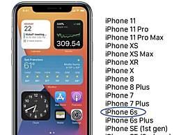 iOS14支持哪些手机更新