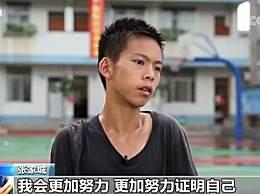 篮球少年张家城2年练坏7双球鞋