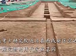 咸阳发现最大最完整隋代家族墓园