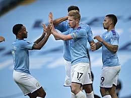 曼城4-0大胜利物浦