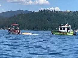 两架飞机在美国上空相撞后坠湖