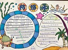 暑假防溺水安全知识手抄报绘画图片 小学生防溺水手抄报画法模板