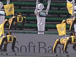 日本棒球比赛用机器人当球迷