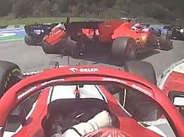 法拉利两位车手发生碰撞 勒克莱尔维特尔在第一圈发生碰撞
