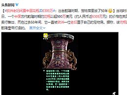欧洲老妇闲置中国花瓶拍得6300万:出自乾隆时期,宠物房里放了50