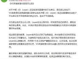 VG宣布处罚乐言