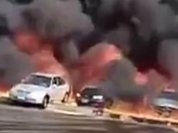 埃及一石油管道破裂引发严重火灾
