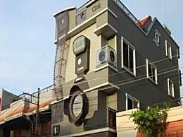 牛人!印度摄影师痴迷相机 把房子建成相机模样