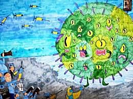 最新抗击疫情绘画图片大全