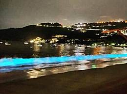 墨西哥惊现蓝光海滩 百年难遇太罕见!