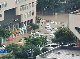 湖北恩施城区大面积被淹