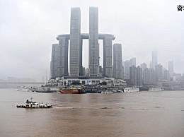 长江重庆段迎入汛以来最大洪水