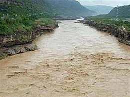 黄河现第2号洪水