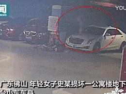 女子狂砸9辆车后让男友赔