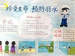 小学生防溺水手抄报简单好画作品