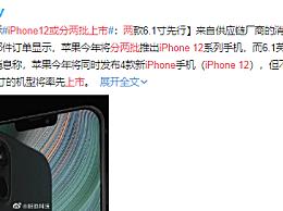 iPhone12或分两批上市