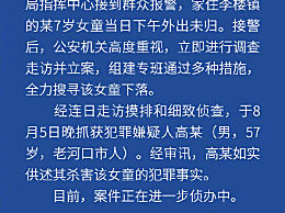 襄阳失踪女童被翻墙逃走邻居杀害
