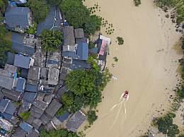 洪水漫上重庆主城