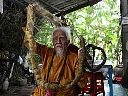越南92岁大爷80年未剪头发