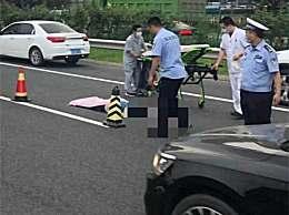 老太横穿京藏高速被撞身亡