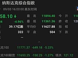 美国芯片股暴跌1000亿美元
