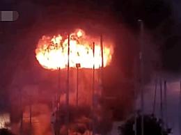 英国一工厂发生巨大爆 炸