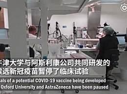 牛津新冠疫苗临床试验暂停