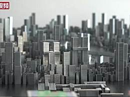 小伙用订书钉搭建微型重庆城