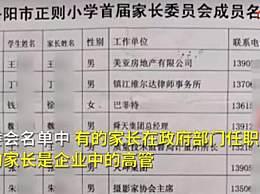江苏一小学家委会成员非富即贵 校长回应家长的社会名望高做事比较