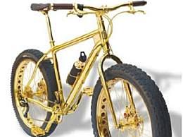 世界上最贵的自行车 售价600万纯黄金打造
