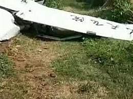 山东一飞机坠落村庄
