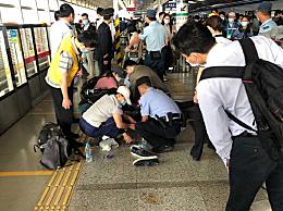 男子地铁站内晕倒抢救无效离世!现场热心乘客为其心肺复苏